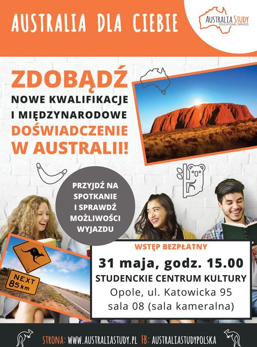 "Skorzystaj z programu ""Study and Work in Australia"""
